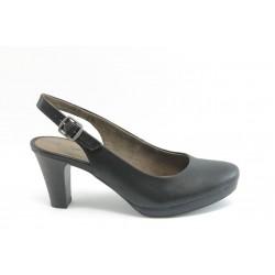 Дамски обувки на ток с отворена пета Jana 29661 черни