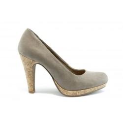 Немски обувки на висок ток Marco Tozzi 22415БЕЖ.В.