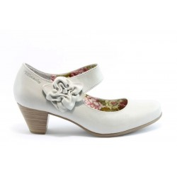 Немски обувки на ток Tamaris 24410БЯЛ