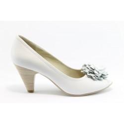 Немски обувки на ток Caprice 29303БЯЛ