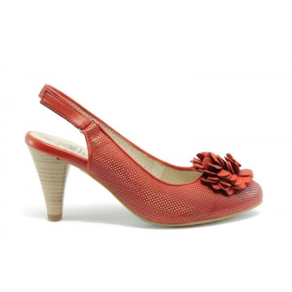 Немски обувки на ток Caprice 29602ЧВ