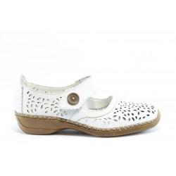 Равни немски обувки Rieker 41358БЯЛ