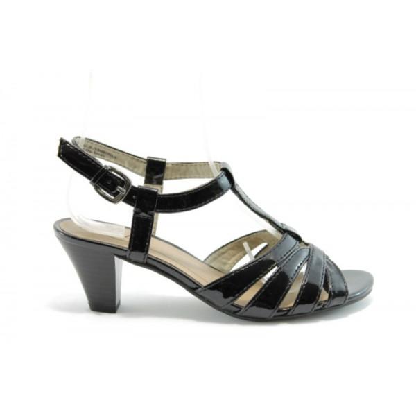 Немски сандали на ток Jana 28362 ЧЕРЕН ЛАК