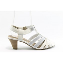 Немски сандали на ток Jana 28364БЯЛ
