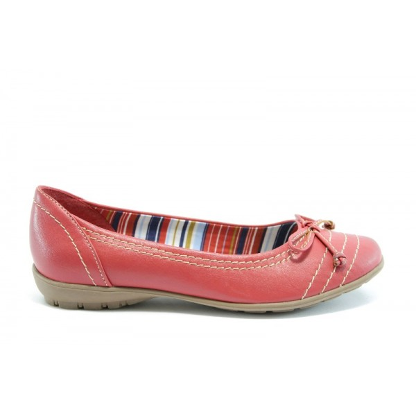 Равни немски обувки Jana 22160ЧЕРВЕН