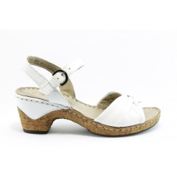 Немски сандали на ток Tamaris 28005БЯЛ ANTISHOKK