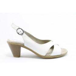 Немски сандали на ток Jana 28300БЯЛ