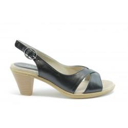 Немски сандали на ток Jana 28300Черен