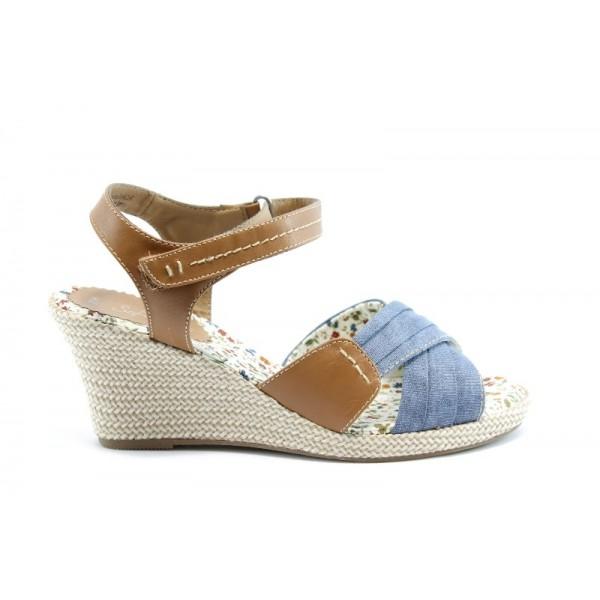 Немски сандали на платформа Jana 28366СИН