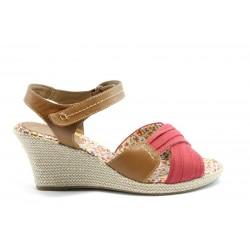 Немски сандали на платформа Jana 28366Червен