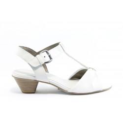 Немски сандали на ток Jana 28205БЯЛ ANTISHOKK