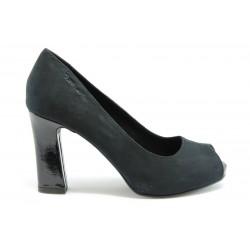 Немски обувки на висок ток Tamaris 29304ЧЕРЕН