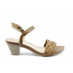 Немски сандали на ток Caprice 28208КАФЕ ANTISHOKK
