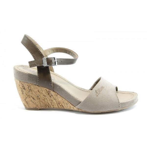 Немски сандали на платформа S.Oliver 28313СИВ
