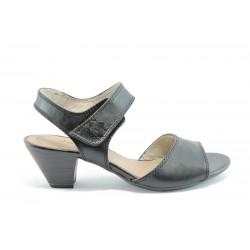 Немски сандали на ток Jana 28303ЧЕРЕН