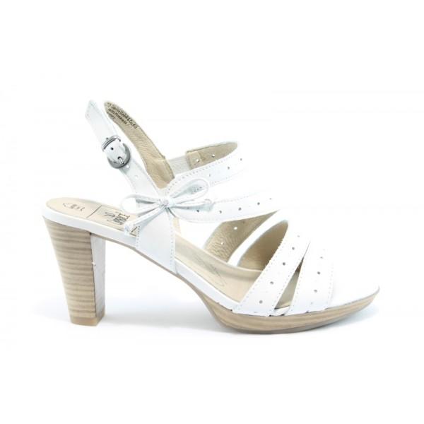 Немски сандали на висок ток Caprice 28310БЯЛ ANTISHOKK