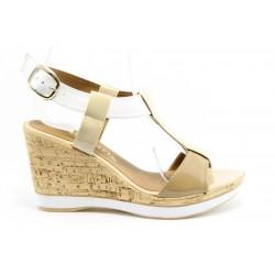 Немски сандали на платформа Tamaris 28085БЕЖ