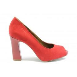Немски обувки на висок ток Tamaris 29304Червен