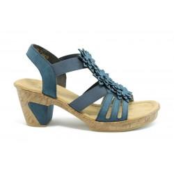 Немски сандали на ток Rieker 69776СИН