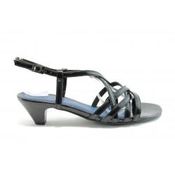 Немски сандали на ток Marco Tozzi 28200Черен