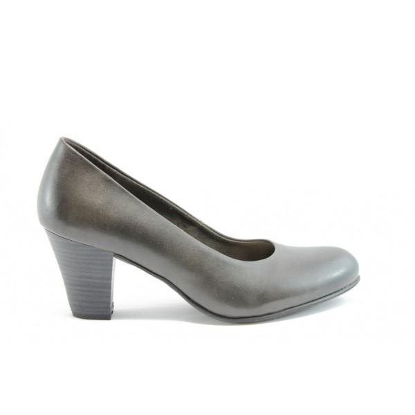 Елегантни немски обувки естествена кожа Jana 22402Сив ANTISHOKK