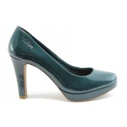 Немски обувки на ток s.Oliver 22403 Зелен