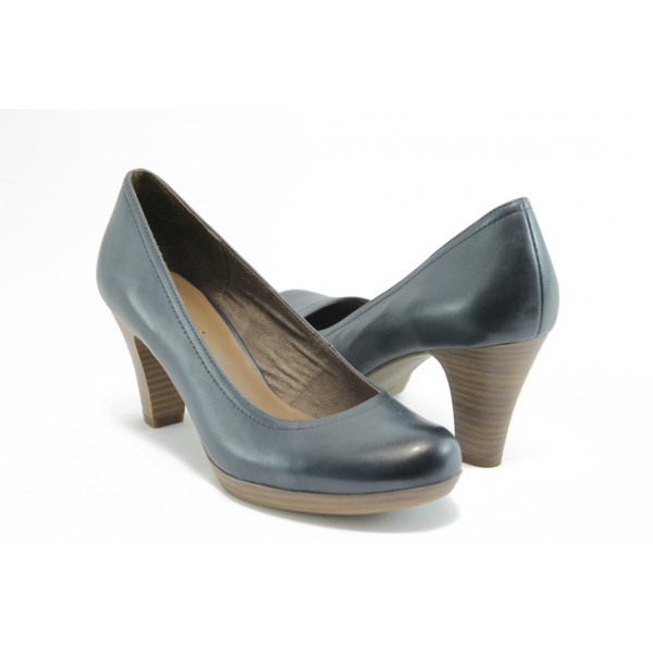 Стилни дамски обувки на ток Tamaris 22410синьо ANTISHOKK