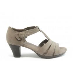 Дамски сандали на среден ток Jana 28365 беж