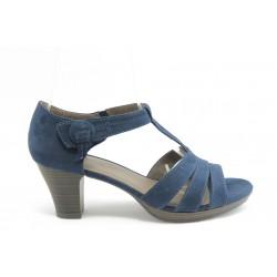 Дамски сандали на среден ток Jana 28365 сини