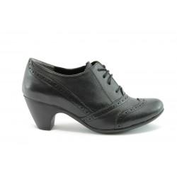 Дамски обувки на ток с връзки МИ 220ч