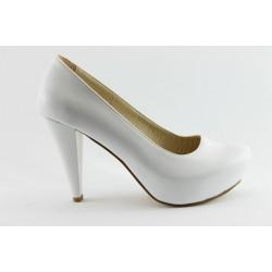 Дамски обувки на висок ток ЕО 200 бяла кожа