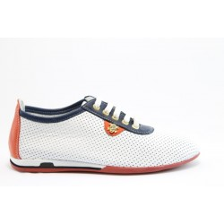 Спортни дамски обувки от естествена кожа МИ 105 бели
