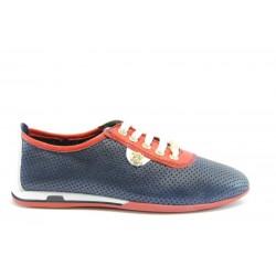 Спортни дамски обувки от естествена кожа МИ 105 сини