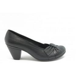 Дамски обувки на ток естествена кожа МИ 85