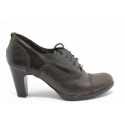 Дамски обувки на ток ФЯ 0121940 кафява кожа