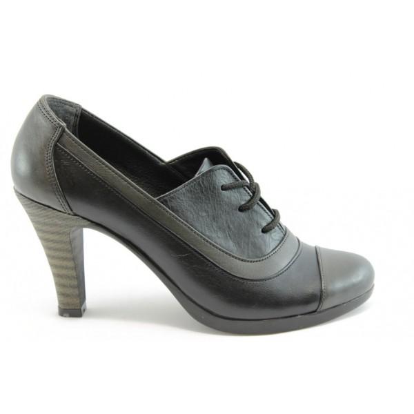 Дамски обувки с връзки на ток МИ 205