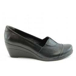 Дамски обувки на платформа естествена кожа МИ К08Черен
