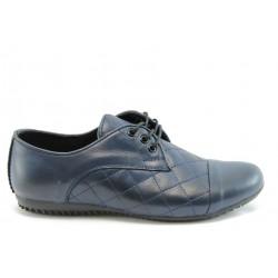 Спортни дамски обувки естествена кожа МИ 033Син