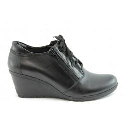 Дамски обувки на платформа естествена кожа МИ 509Ч