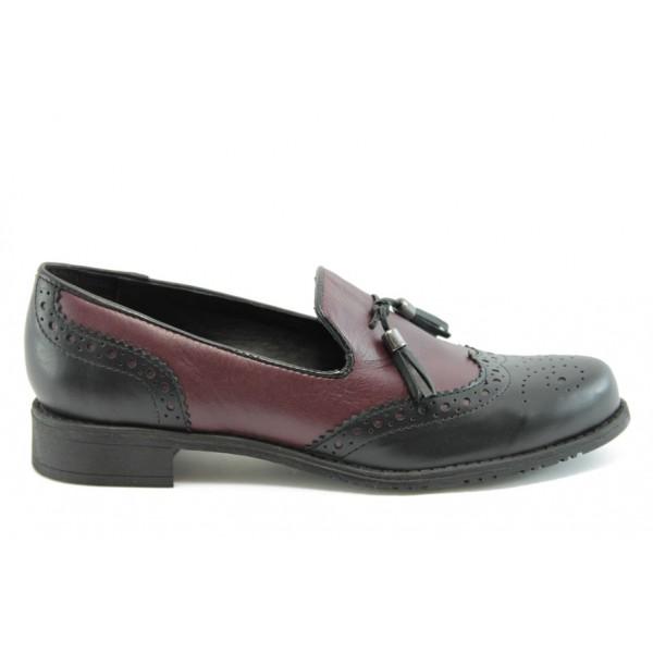 Дамски обувки без връзка ГО 7003бордо