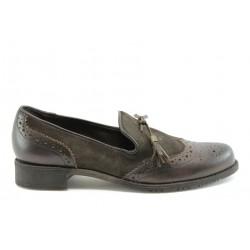 Дамски обувки без връзка ГО 7003кафе