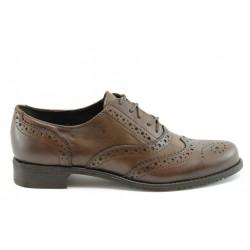 Дамски обувки с връзки ГО 7050карамел