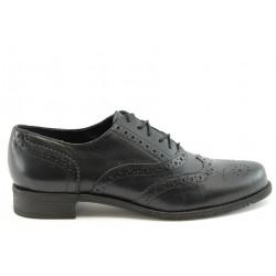 Дамски обувки с връзки ГО 7050черно