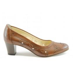 Дамски обувки на ток ГО 0345к.перфорация