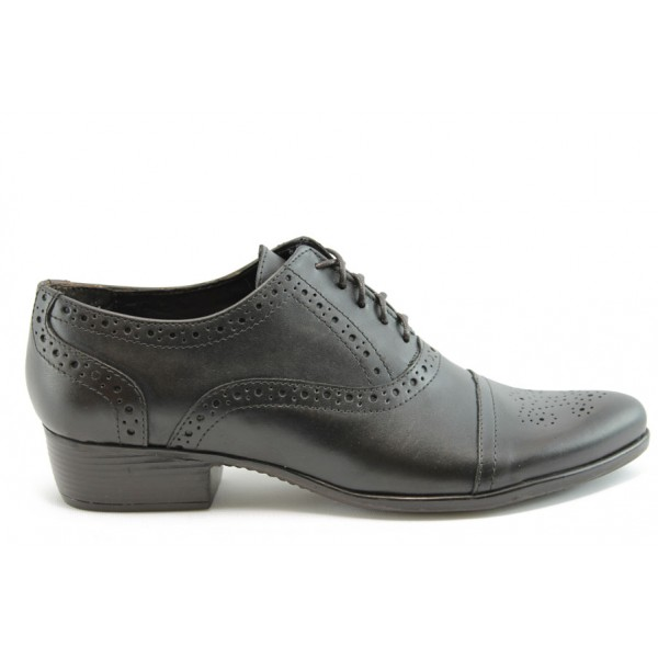 Дамски обувки с връзки ГО 4443т.кафе.н