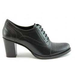 Дамски обувки на ток с връзки ГО 40310ч