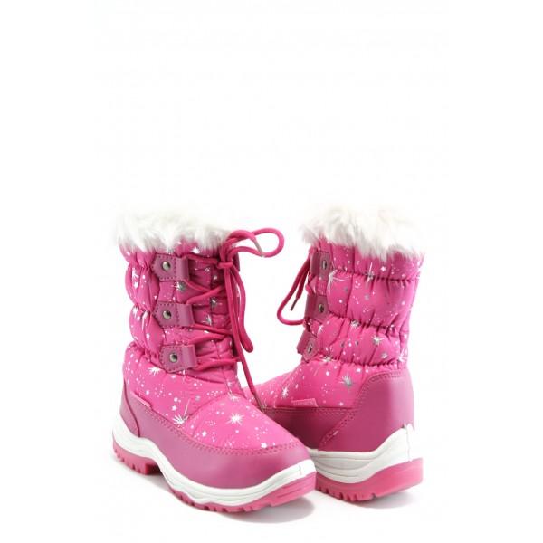 Детски ботуши с връзки Runners 0183 розови