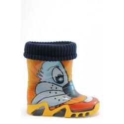 Детски гумени ботуши с топъл свалящ се чорап Demar 0032 заек 20/27 | Гумени ботуши |MES.BG