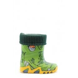 Детски гумени ботуши с топъл свалящ се чорап Demar 0033 крокодил 28/35 | Гумени ботуши |MES.BG