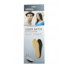 Стелки от естествена кожа с активен въглен Bergal 6911